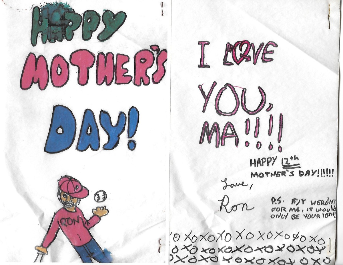 To Ron on Mother's Day 2021